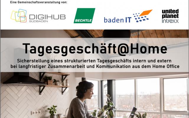 Erfolgreiches Arbeiten im Homeoffice: Online-Event mit DIGIHUB Südbaden